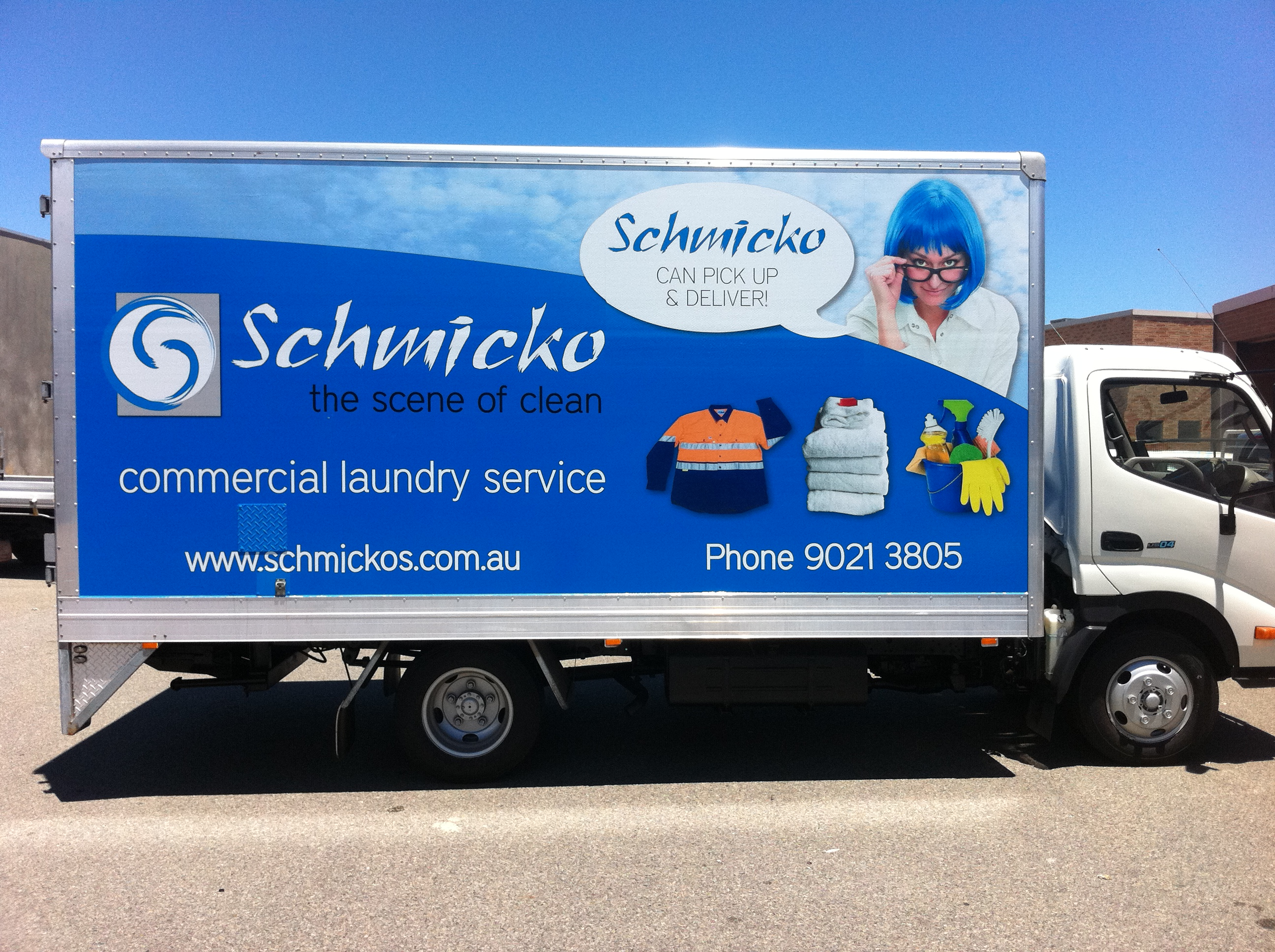Perth truck wrap; truck graphics